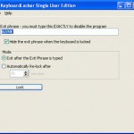 Blocca la tastiera con KeyboardLocker