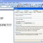 Proteggere con password un file microsoft word